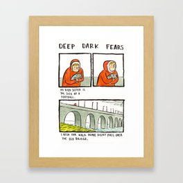 Deep Dark Fears 143 Framed Art Print
