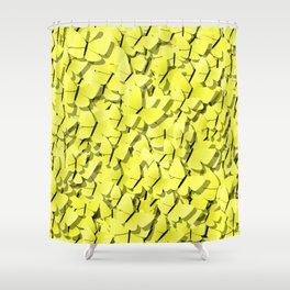 yellow butterflies Shower Curtain