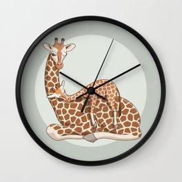 Giraffes Wall Clock