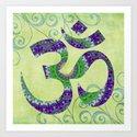 Beautiful Green And Purple Om 9 - Sharon Cummings by sharoncummings
