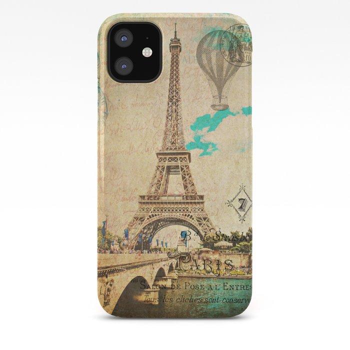 Vintage Eiffel Tower Paris Iphone Case By Jmccool