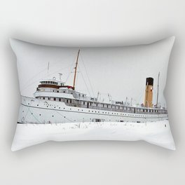 SS Keewatin in Winter White Rectangular Pillow