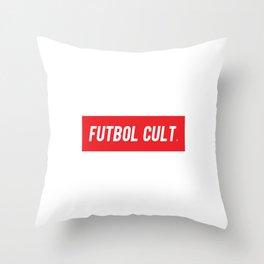 Futbol Cult Brand White Throw Pillow