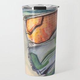 Halo gaming watercolor design Travel Mug