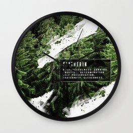 Slytherin Nature Wall Clock