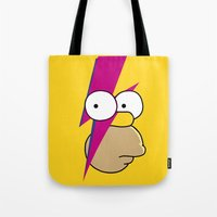 homer Tote Bags featuring Homer Stardust by lapinette
