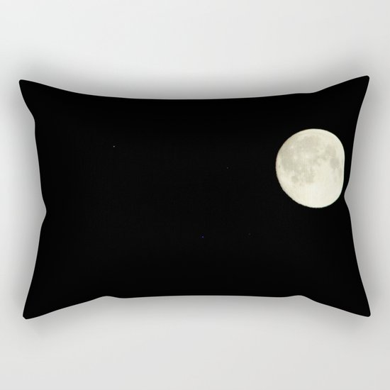 The moon over my balcony Rectangular Pillow