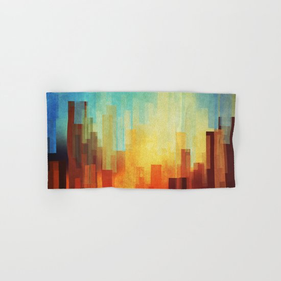 Urban sunset Hand & Bath Towel