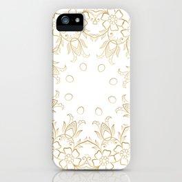 Gold Mandala 15 iPhone Case