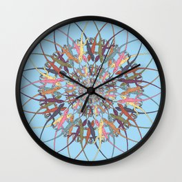 Lizard Snowflake Wall Clock