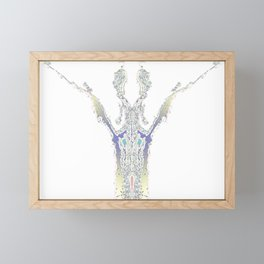 V Interpretation Framed Mini Art Print