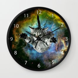 Galaxy Cat Universe Kitten Launch                                                 Wall Clock