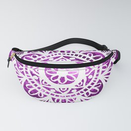 Purple Galaxy Mandala Fanny Pack