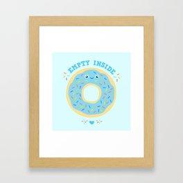donut empty inside blue funny gift Framed Art Print