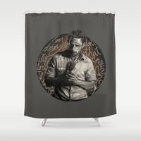 grimes Shower Curtains featuring Grimes by Ariane Lafreniere