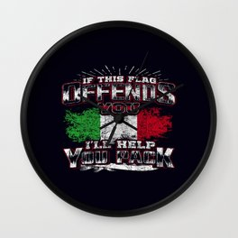 flag offend italy Wall Clock