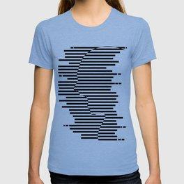 Creative Stripes Shocked Artwork T-shirt