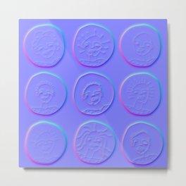 purple windows Metal Print