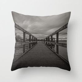 Chasewater Broadwalk Mono Throw Pillow