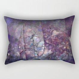 Cracked Purple Geode Texture Rectangular Pillow