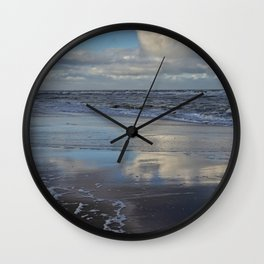 Reflections on the Beach Wall Clock
