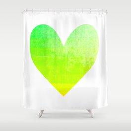 lemon lime heart Shower Curtain