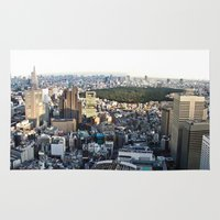 tokyo Area & Throw Rugs featuring Tokyo by Léon