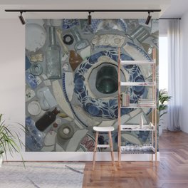 Glass Bits and Pieces Wall Mural