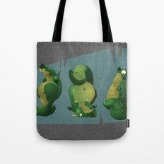 3 dragons in a cave Tote Bag