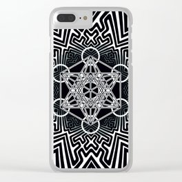 sayagata variation/metatron Clear iPhone Case