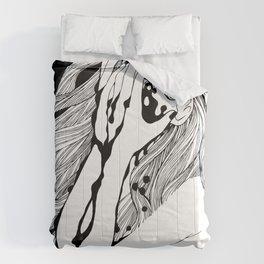 Crying girl Comforters