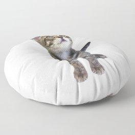 Tabby Kitten Floor Pillow