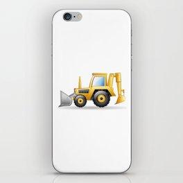 Yellow Excavating Tractor Icon iPhone Skin