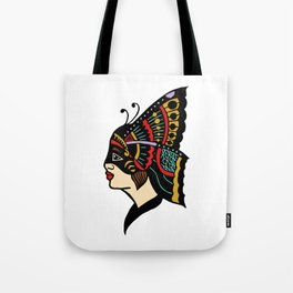Butterfly Girl Tote Bag
