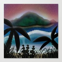 paradise Canvas Prints featuring Paradise by ShaylahLeigh