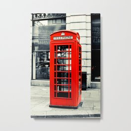 British Telephone Booth Metal Print