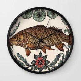 Carp in the Kelp Wall Clock