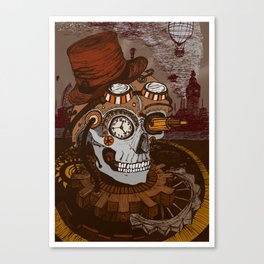 Steampunk Skull Canvas Print