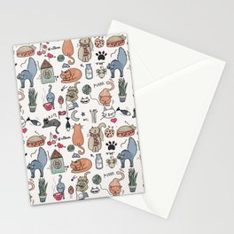 Cats Life Stationery Cards
