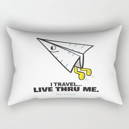 I Travel... Live Thru Me. Rectangular Pillow