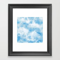 Fluffy Clouds Framed Art Print
