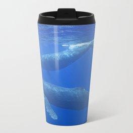 Humpback Whales Metal Travel Mug