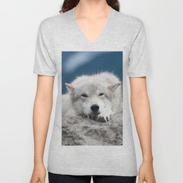 Sleepy Wolf Unisex V-Neck