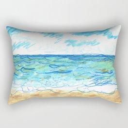 The Beach Front Rectangular Pillow