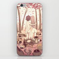 guinea pig iPhone & iPod Skins featuring guinea pig paradise by szerk