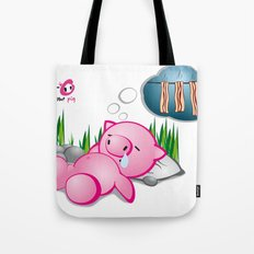 Berto: The Mental-issue pig taking a nap Tote Bag