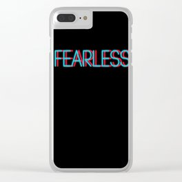 Fearless | Digital Art Clear iPhone Case