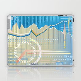 financial background Laptop & iPad Skin