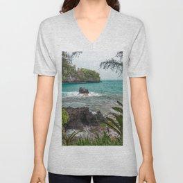 Hawaiian Turquoise Cove Unisex V-Neck