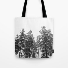 simply trees in winter Tote Bag